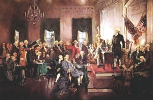 Scene at the Signing of the Constitution of the United States, Howard Chandler Christy 1940