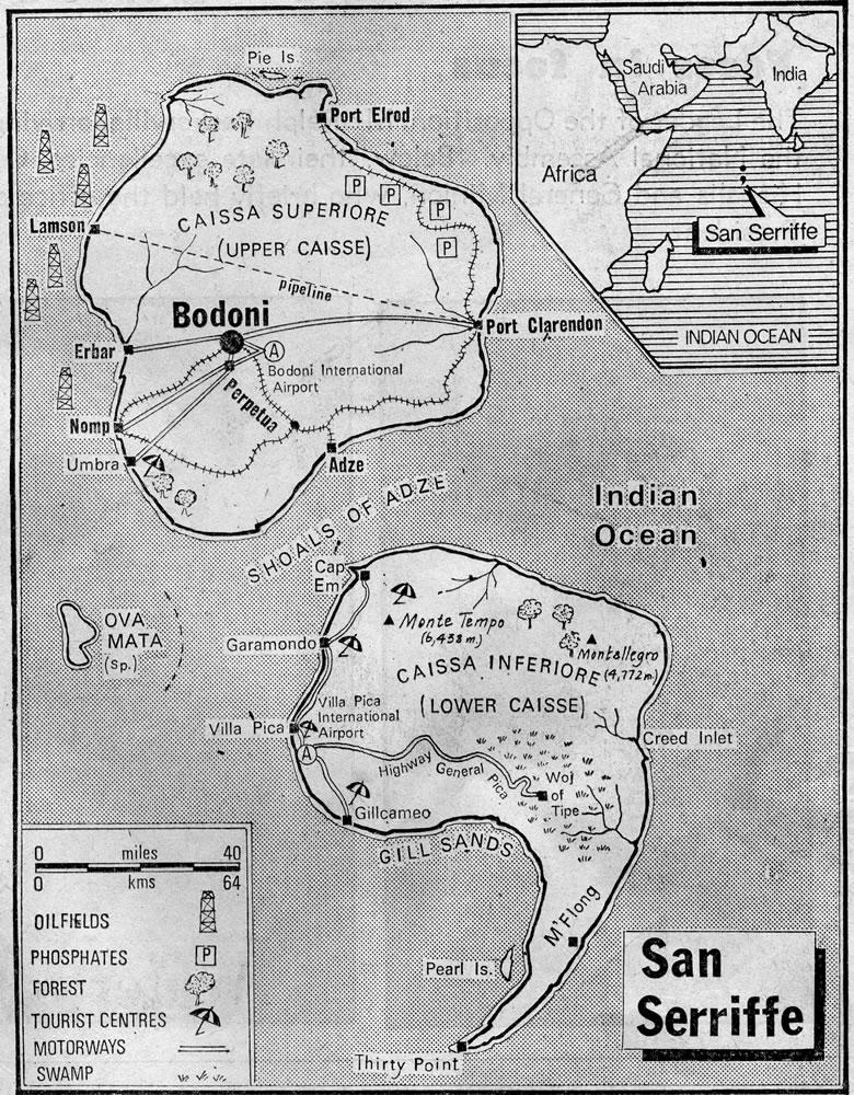 The semicolonial island of San Seriffe | History Tech