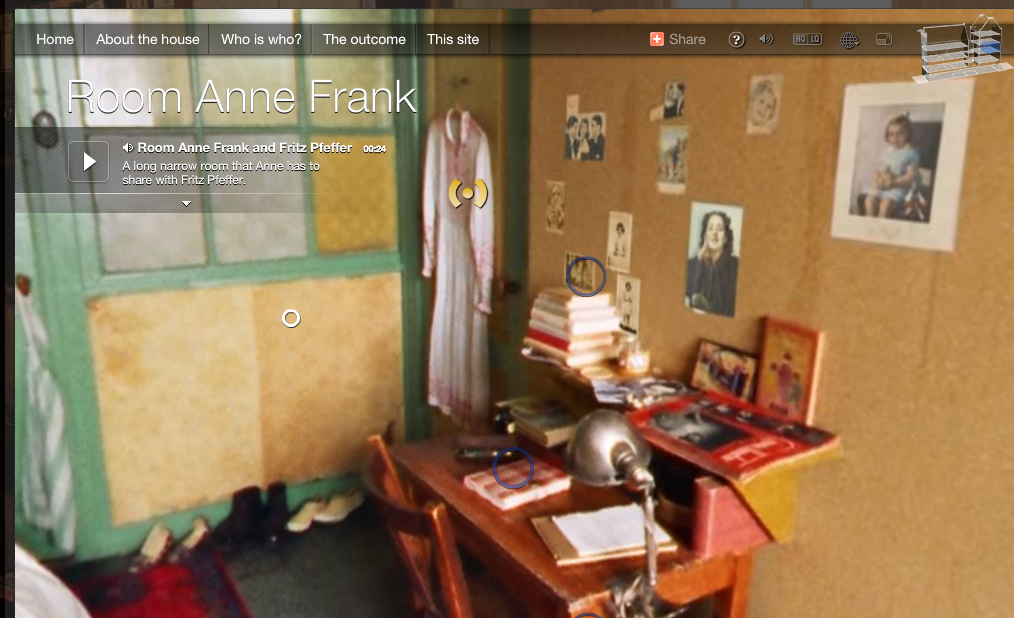 design ideas attic game room - The Secret Annex – Anne Frank's House in 3D