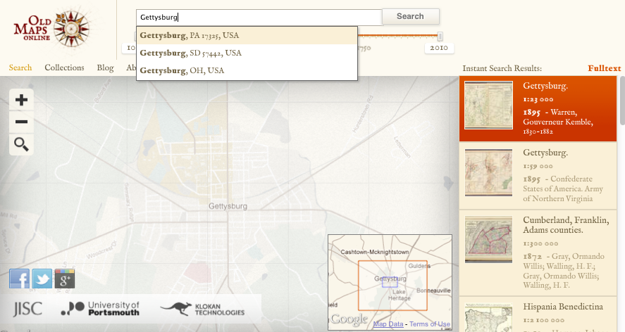 Old Maps Online History Tech - Buy old maps online