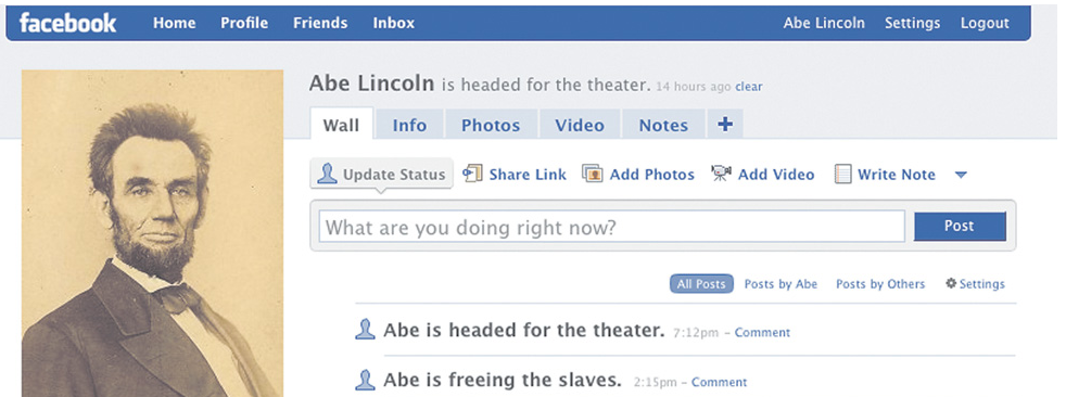 Lincoln Facebook Teaching Twitter Tech History And Abe