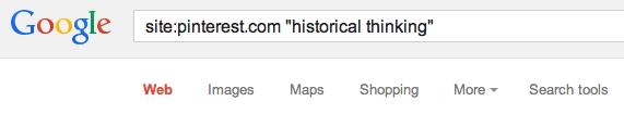 google pinterest search