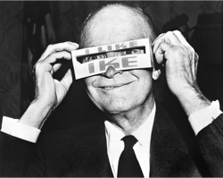 ike with weird glasses