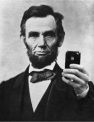 lincoln and cell phone