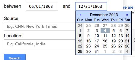 google news dates