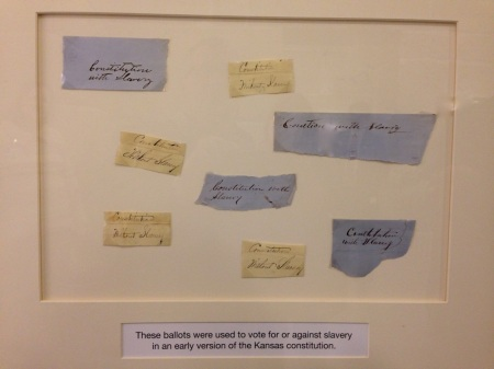Original votes for / against slavery in early Kansas election. How cool is that?