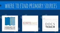 where to find primary sources