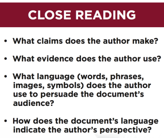 close reading schreenshot poster