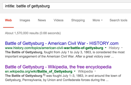 battle of gettysburg search