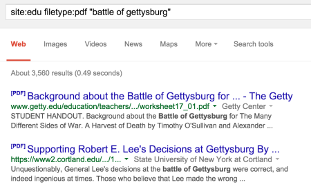 site battle of gettysburg