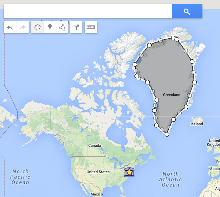 Hacking iste2015 virtual globe trotting with google maps greenland 1 gumiabroncs Gallery