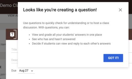 google classroom question