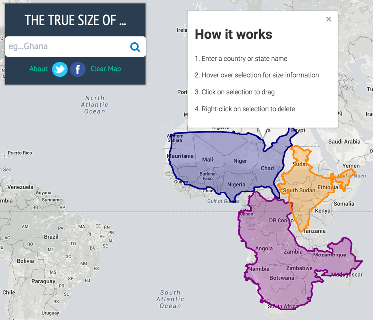 The True Size of . . . | History Tech