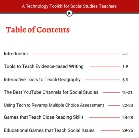 tech toolkit table of contents