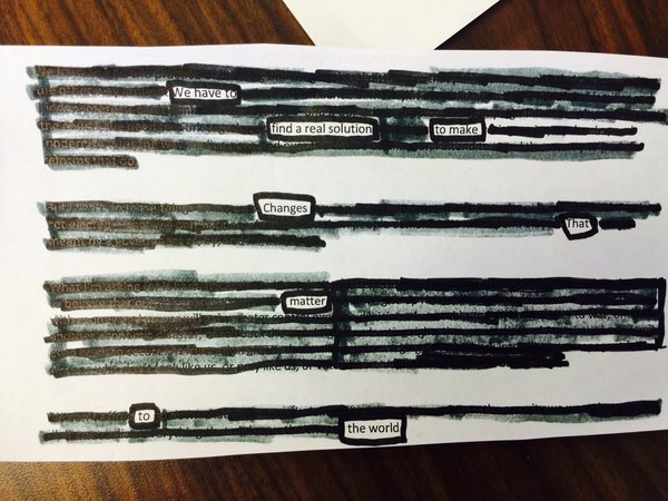 SOTU blackout poetry