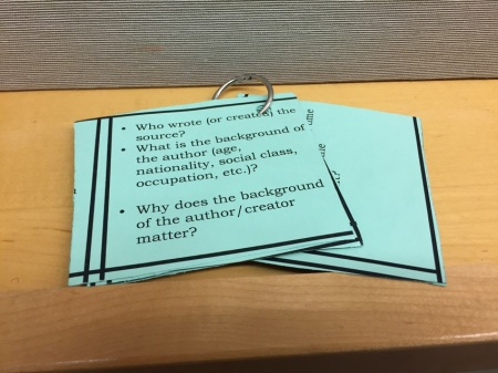 historicla thinking cards