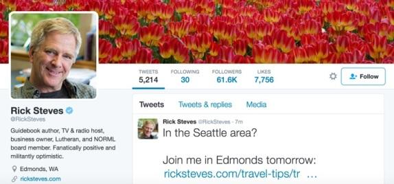 rick steves follow